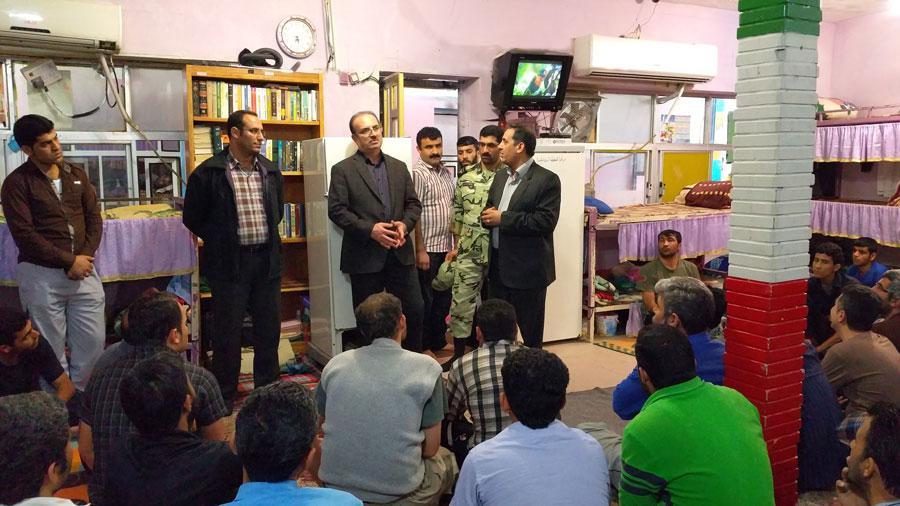 بازدید مدیر کل زندانها و رییس هیات مدیره ستاد دیه خوزستان از زندانهای ماهشهر و شوشتر