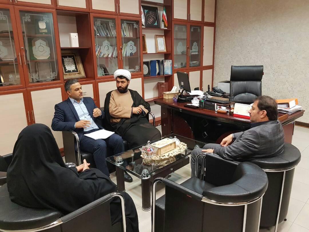 نشست مشترک مدیر نمایندگی ستاد دیه و بانک ملت